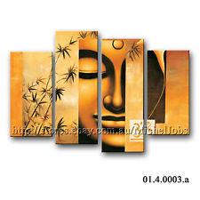 Buddha modern wall art canvas prints 4 panels Ready to hang framed ...