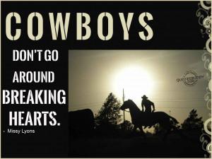 Cowboys..