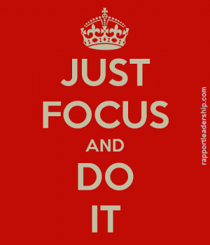 Focus our conscious mind