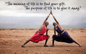 Quote: Pablo Picasso | Picture: Africa Yoga Project;