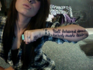 LOVE this tattoo. Quote & leopard print omgg