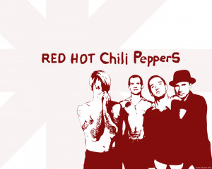 red hot chili peppers background