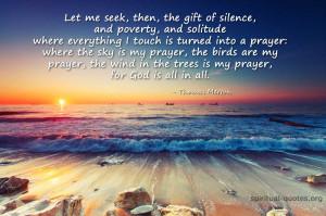 Spiritual quote on silence by Thomas Merton
