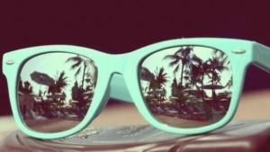 sunglasses mint pastel cute summer sun fun palm tree print tree palm ...