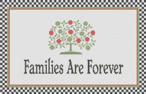 cross stitch patterns sayings samplers families are forever cross baby ...