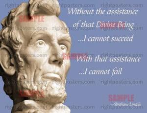 Lincoln Religion Poster