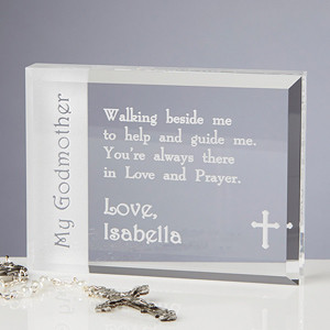 Personalized Godparent Engraved Keepsake Gifts - Baby Gifts .