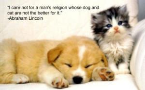 wise & kind president..Abraham Lincoln. on animal welfare