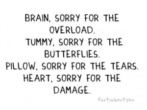 Heart, sorry for the damage