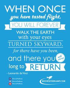 Aviation Quote from Leonardo da Vinci www.browsetheramp... #aviation # ...