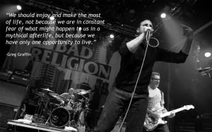 Greg Graffin motivational inspirational love life quotes sayings ...