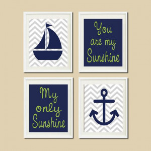 Nautical Nursery Sailboat Anchor You Are My by LovelyFaceDesigns, $35 ...