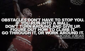 Michael Jordan Give Up Quote