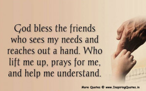 ... Bless the Friend Quotes, Inspirational Friends Quotes Positive Thought