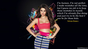 Image for Selena Gomez Time Quotes Wallpaper
