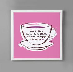 ... is like a #tea cup, to be filled to the brim and enjoyed with friends