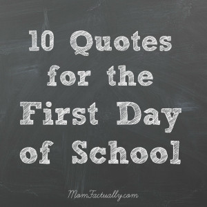 quotes for the first day of school