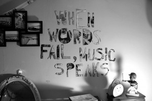 Quotes To Put On Your Wall Tumblr music quote room text