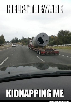 Funny meme picture of the kinds of the things you see on a road trip.