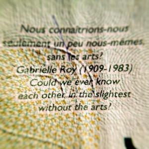 Gabrielle Roy quote on Candadian $20 dollar bill