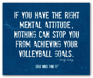 If you have the right mental attitude,nothing can stop you from ...
