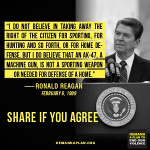 ... anti-gun rhetoric spreading on Facebook uses Ronald Reagan quote
