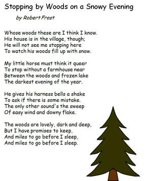 Winter Poems Robert Frost