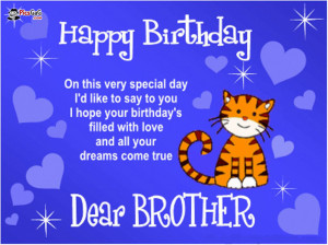 Brother Birthday Quote