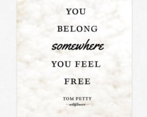 Tom Petty Lyrics Poster Print Wal l Art Typography Lyrics Giclee