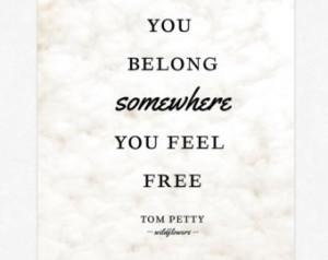 Tom Petty Lyrics Poster Print Wal l Art Typography Lyrics Giclee