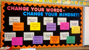 Change Your Words - Change Your Mindset Bulletin Board