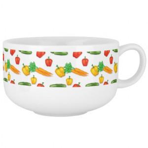 Cartoon Vegetable soup mug Bowl Soup Bowl With Handle