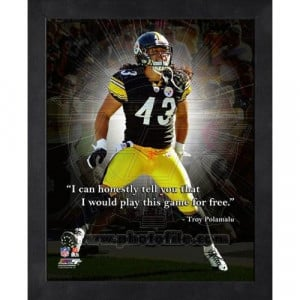 Home Troy Polamalu Pro Quote (AAPE126)