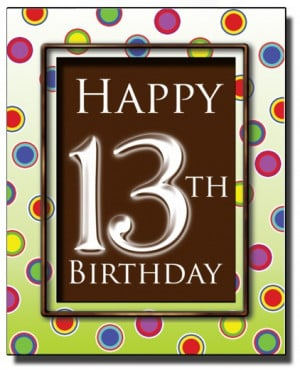 ... Marketplace / Happy 13th Birthday Chocolate Card by Chocmotif Ltd