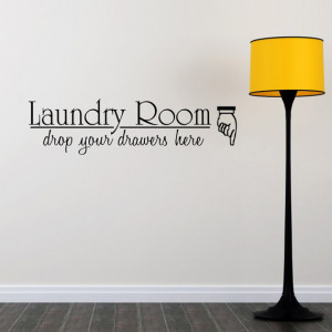 Laundry Room Vinyl Wall Sticker Decal Quote QU103