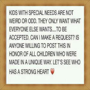 kids+with+special+needs Kids with special needs inspirational quote