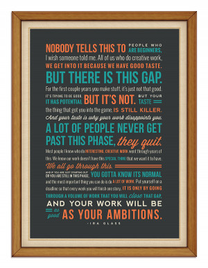 Ira Glass Quote On Creativity Print (18