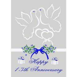 13th_wedding_anniversary_greeting_card.jpg?height=250&width=250 ...