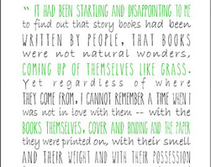 Eudora Welty literary quote typogra phy print on love for books and ...