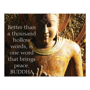 BUDDHIST QUOTE ABOUT PEACE CUSTOM ANNOUNCEMENT