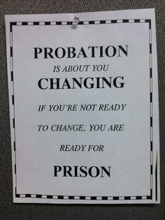 THE PROBATION OFFICER Warning Sign mother funny gift parole prison ...