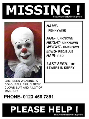 Missing:Pennywise by harperc