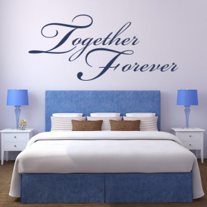 Together-Forever-Wall-Stickers-Love-Quotes-Wall-Quotes-Wall-Art-Decal ...