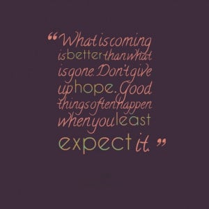 expect good things quotes
