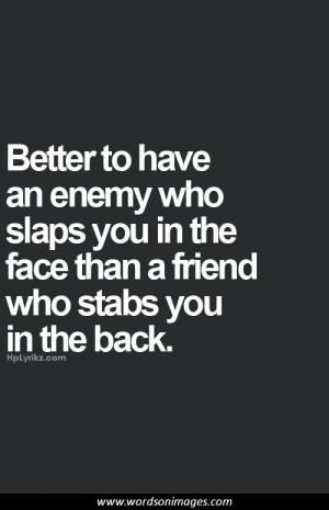 Backstabbing friend quotes