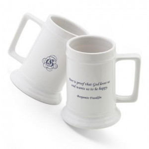 Personalized 16 oz. Famous Beer Quote Stein