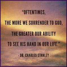 Surrender to God Charles Stanley