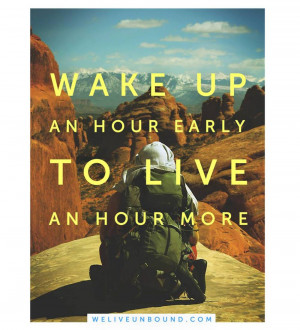 Inspiring quotes about waking up early