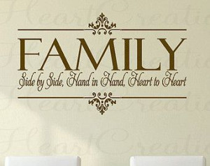 Family Togetherness Christian Quotes | ... Christian Family Wall Quote ...