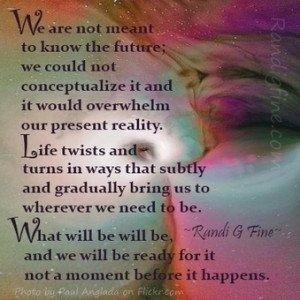 Knowing Future Picture Quote   Inspirational Life Quotes and Articles ...